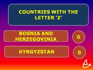 Countries Containing The Letter Z.Pointless Evening Emmanuel Church Bramcote